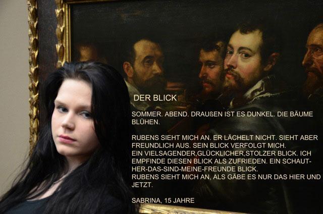 Sabrina über Rubens' Blick