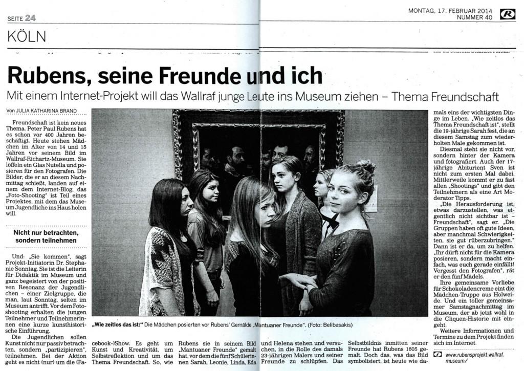 Artikel Kölnische Rundschau vom 17.2.2014